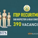 ITBP Recruitment 2018- 390 SI, Constable Posts | Apply Online