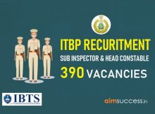 ITBP Recruitment 2018- 390 SI, Constable Posts